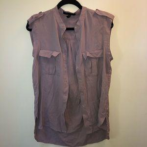 BCBGMaxAzria Sleeveless Button Up Blouse